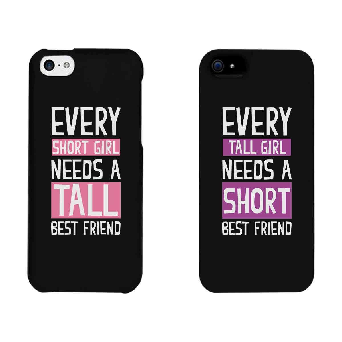 Amazon.com: 365 Printing Every Short Girl and Tall Girl Black ...