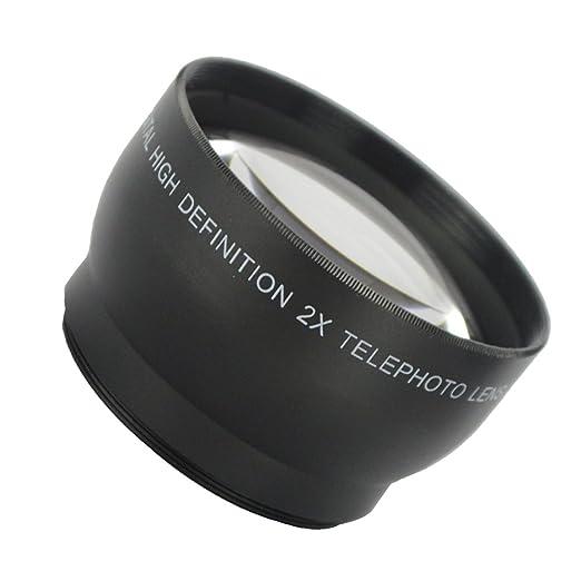 LEDMOMO Accesorio de Lente telefoto 2X 58mm para Canon Nikon y ...