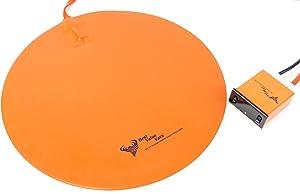 """Best Value Vacs heatpad16inch Borosilicate Glass Vacuum Chamber Digital Heat Pad, 16"""" Diameter"""