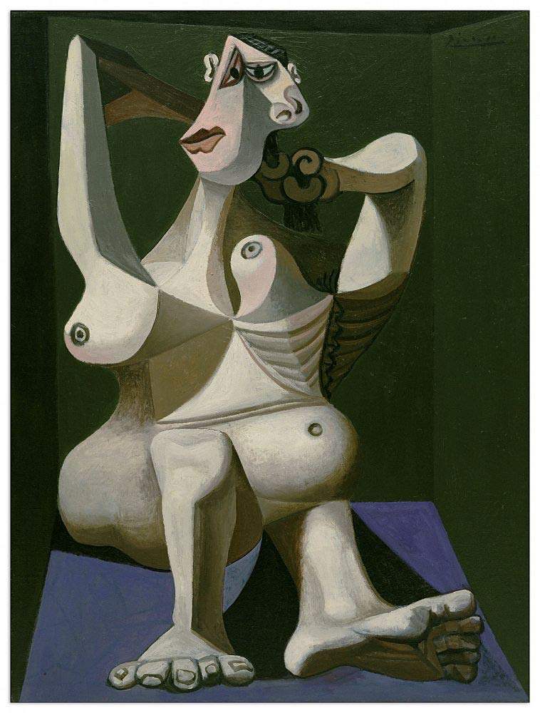 Artopweb TW21723 Picasso - Woman Dressing Her Hair Dekorative Paneele, Multifarbiert,60x80 Cm