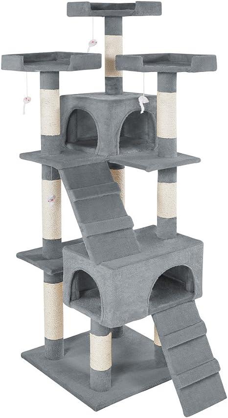 TecTake Rascador Árbol para Gatos Sisal (Gris | No. 400481): Amazon.es: Productos para mascotas