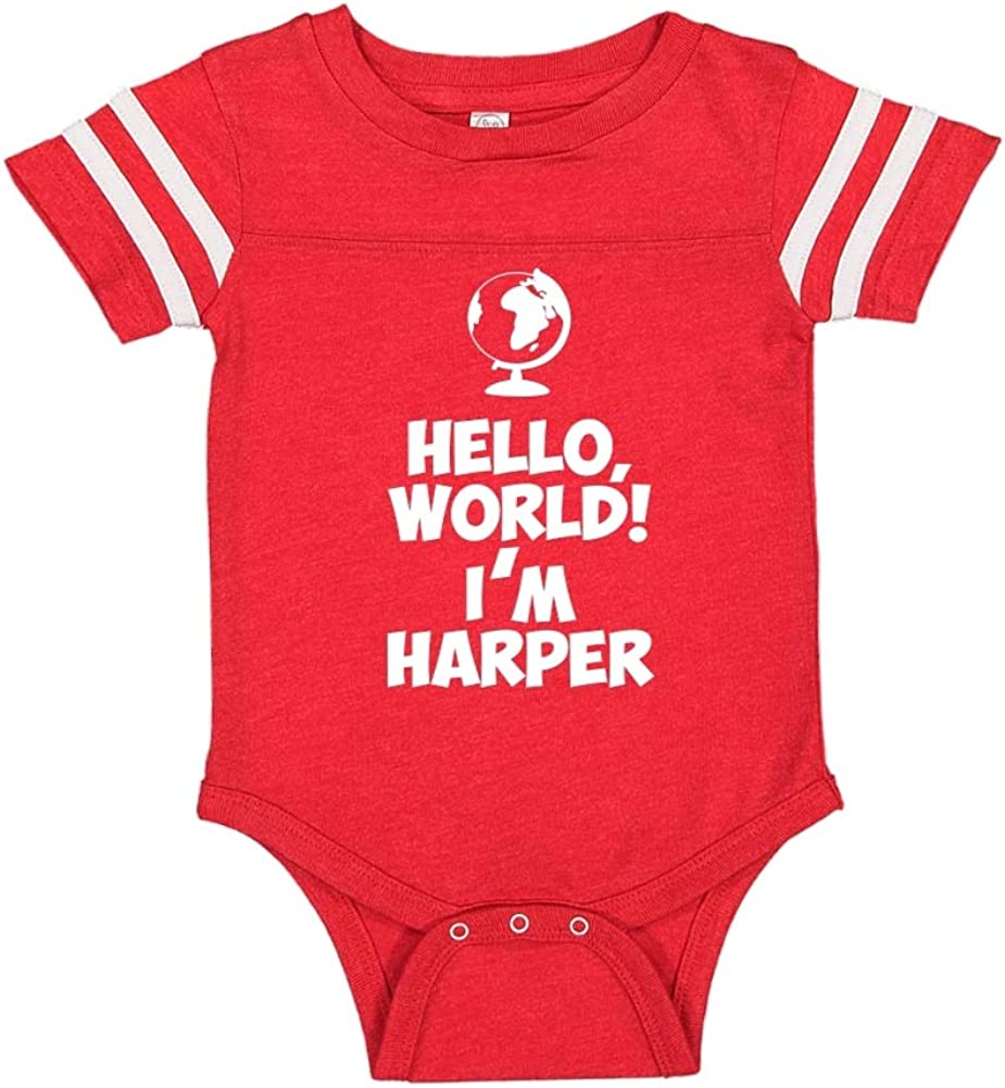 Mashed Clothing Hello My Name is Harper Personalized Name Toddler//Kids Sporty T-Shirt