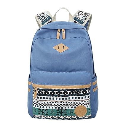 Mochilas Escolares Juveniles Impresión Moderna Mochila Escolar Infantiles Lona Bolsa Casual Backpack Laptop Mochila de Viaje