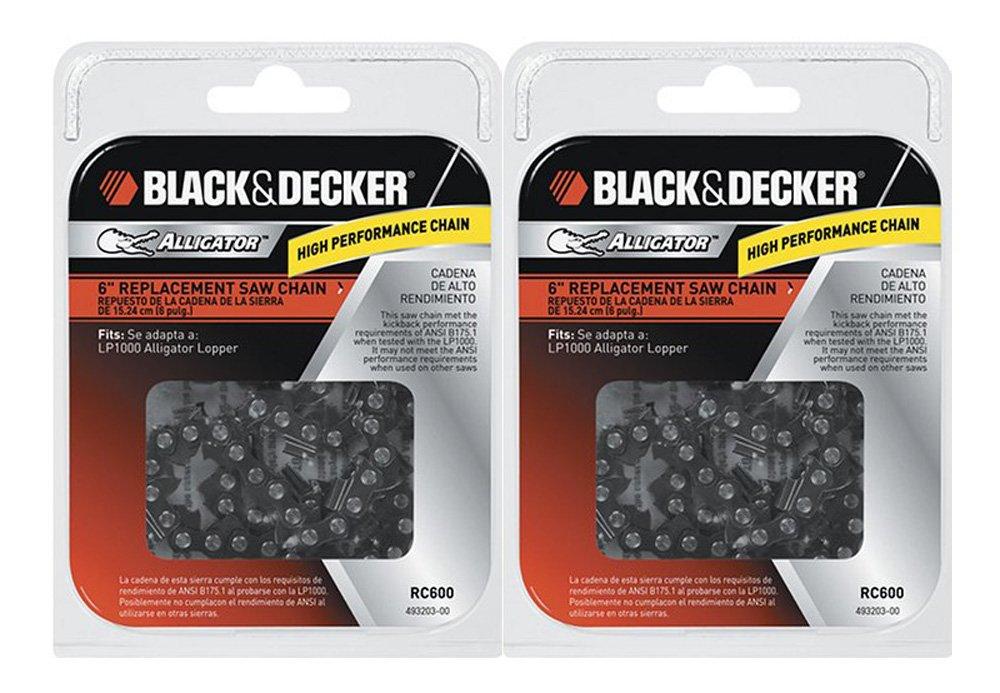 "Black & Decker LP1000 / NLP1800 Saw (2 Pack) Replacement 6"" Chain # RC600-2pk"