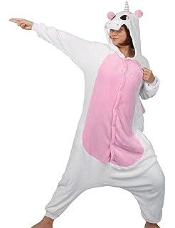 S , Rosa E Pantofole 145-155cm Carnevale Halloween Costume o Pigiama Animali Cosplay Party Tuta OnePiece Regalo di Compleanno per Adulti Adolescenziale Ragazzi