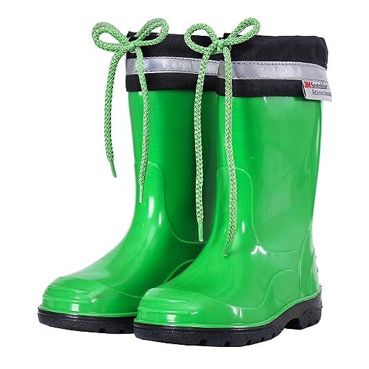 Stivali unisex Amazon LEMIGO verde Verde gomma 33 bambino di vxxdw1qO6