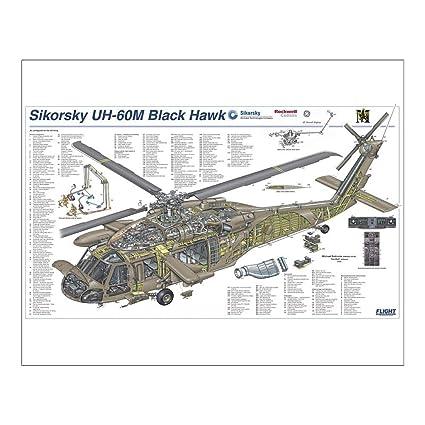 media storehouse 20x16 print of sikorsky uh 60m cutaway poster (1572209) Blackhawk Tactical Vests