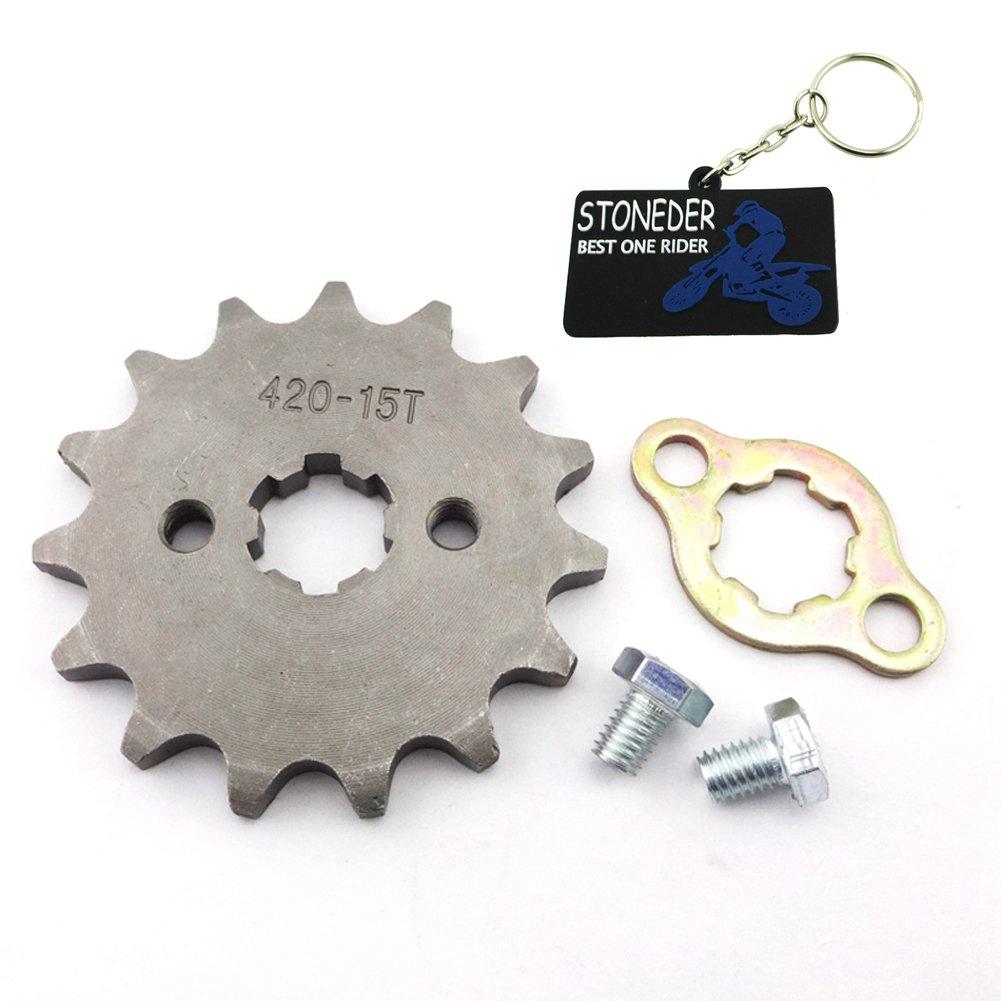 Stoneder 428/15/denti 17/mm anteriore ruota dentata ingranaggio per 50/cc 70/cc 90/cc 110/cc 125/cc 140/CC 150/cc 160/CC motore ATV Quad Pit Bike Dirt Trail