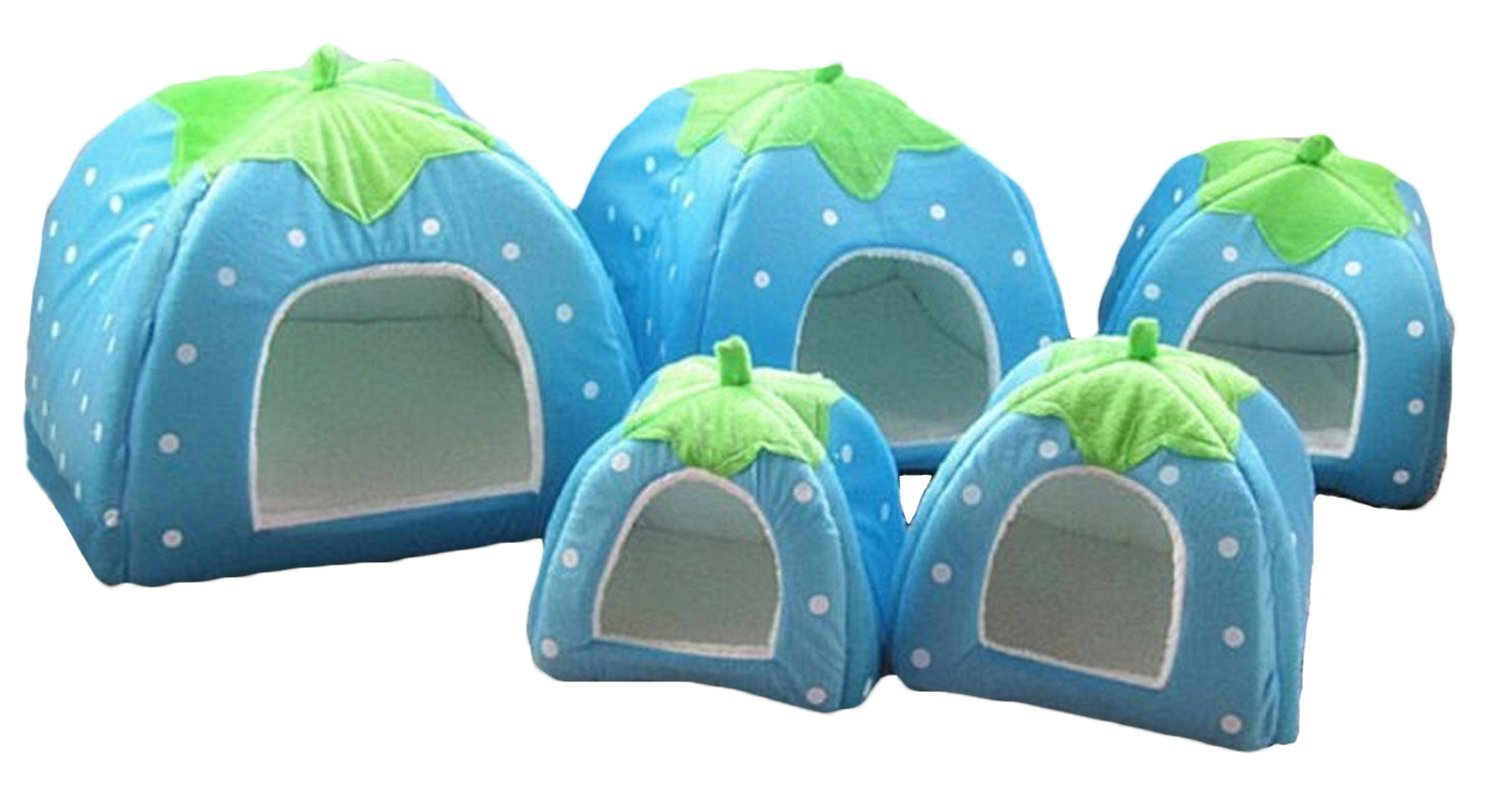 Century Star Rabbit Dog Cat Pet Bed Small Big Animal Snuggle Puppy Supplies Indoor Beds House Blue L by Century Star (Image #3)