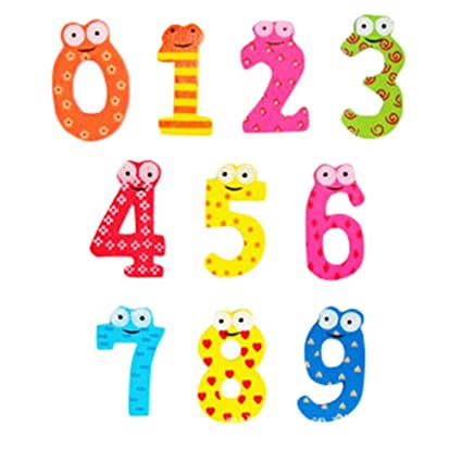 amazon com yeefant wooden cartoon numbers math magnetic collage