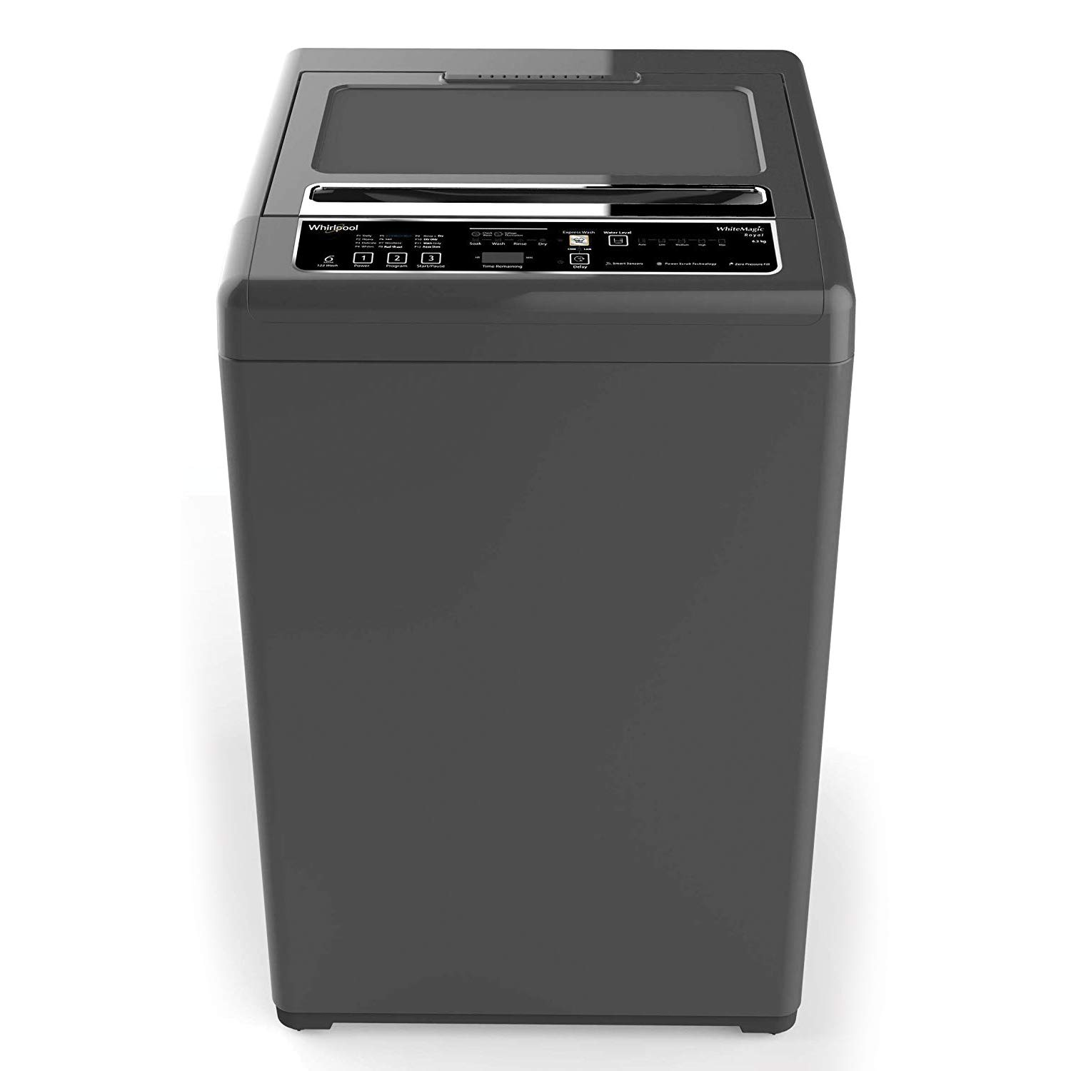 Whirlpool 6.2 kg Fully-Automatic Top Loading Washing Machine (WHITEMAGIC ROYAL 6.2, Shiny Grey, Hard Water Wash)