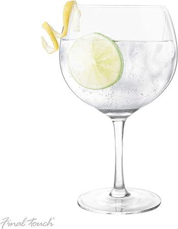 Final Touch Copa De Balon Gin & Tonic Copa de cóctel 800 ml / 27 floz | Copa de globo grande G&T: Amazon.es: Hogar