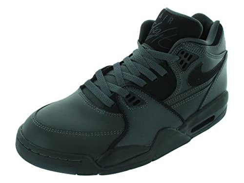 super popular a6c9d 1b593 Nike Air Flight 89 Mens Basketball Shoes 306252-007 ANTHRACITE GREEN PURPLE  BLACK 8.5 D(M) US  Amazon.in  Shoes   Handbags