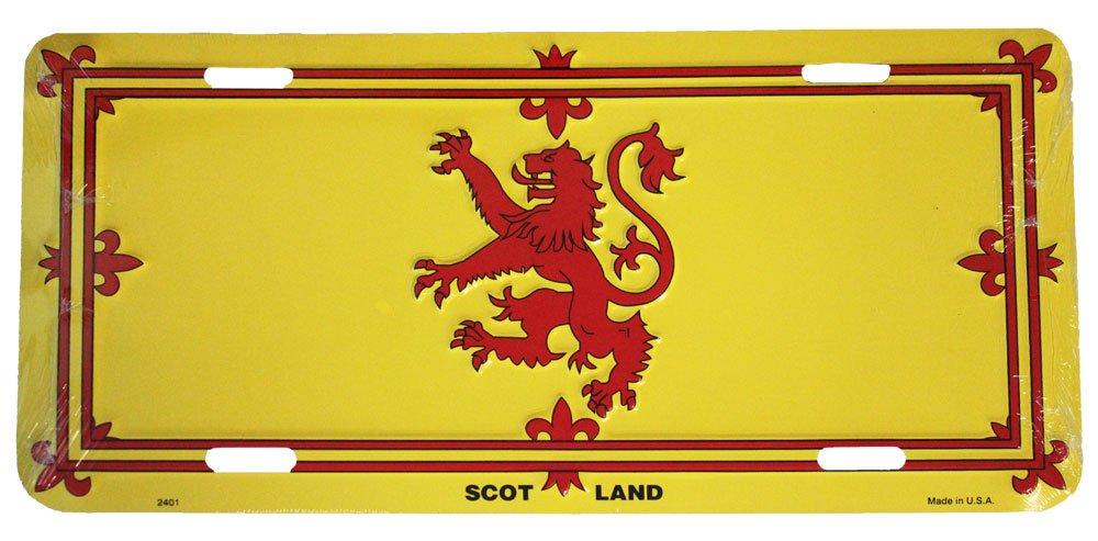 "Scotland Cross 6/""x12/"" Aluminum License Plate Tag"