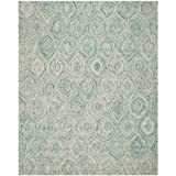 Safavieh Ikat Collection IKT631A Handmade Ivory and Sea Blue Premium Wool Area Rug (8' x 10')