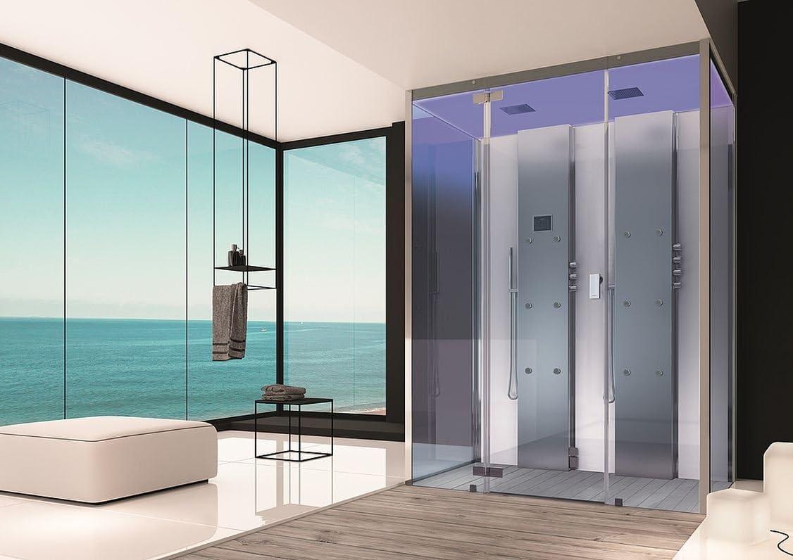 Hoesch Vapor ducha senseperience 160 x 100 cm vapor baño con ducha bañera esquina izquierda: Amazon.es: Bricolaje y herramientas