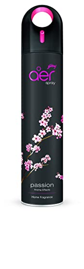 Godrej aer spray, Premium Air Freshener for Home & Office - Passion (270ml)