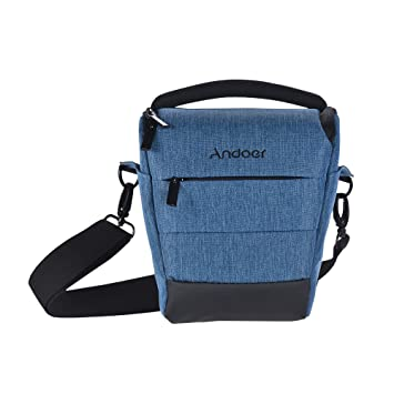 Andoer Portable Mochila de Cámara de Poliéster Liso para 1 Cámara 1 Lente para Canon Nikon Sony Fujifilm Olympus Panasonic