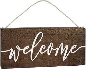Amazon.com: Elegante cartel de bienvenida – decoración de ...