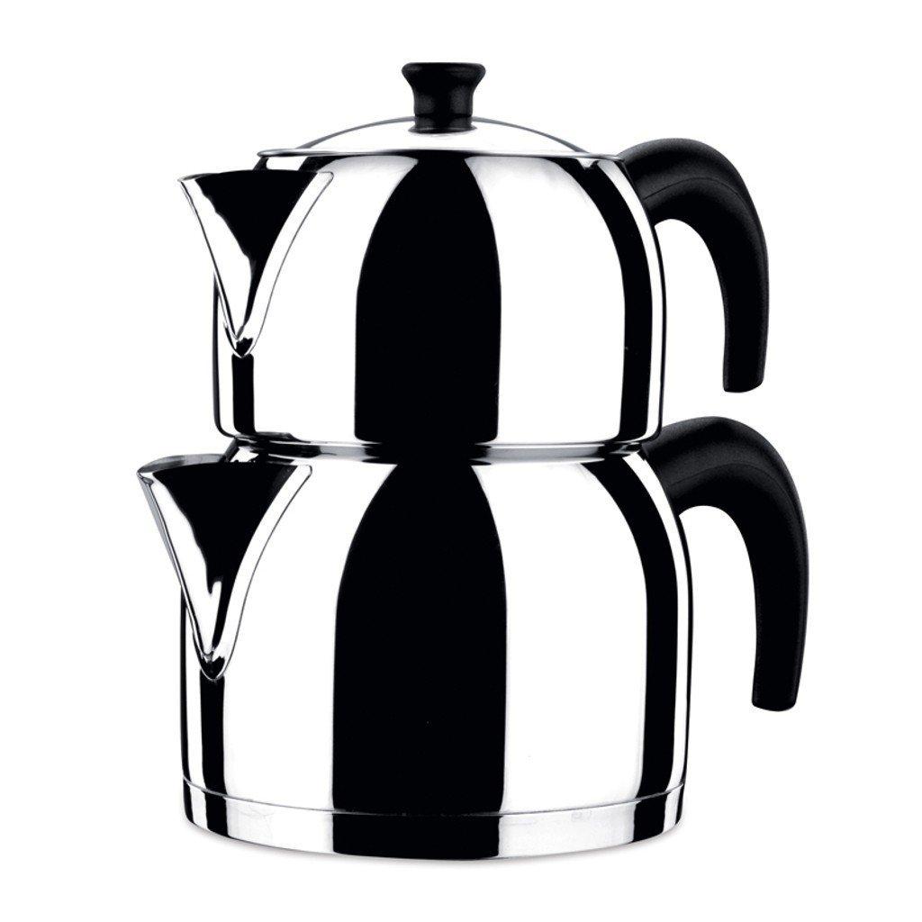 KORKMAZ Orbit 3.1 liter 18/10 Stainless Steel Turkish Teapot