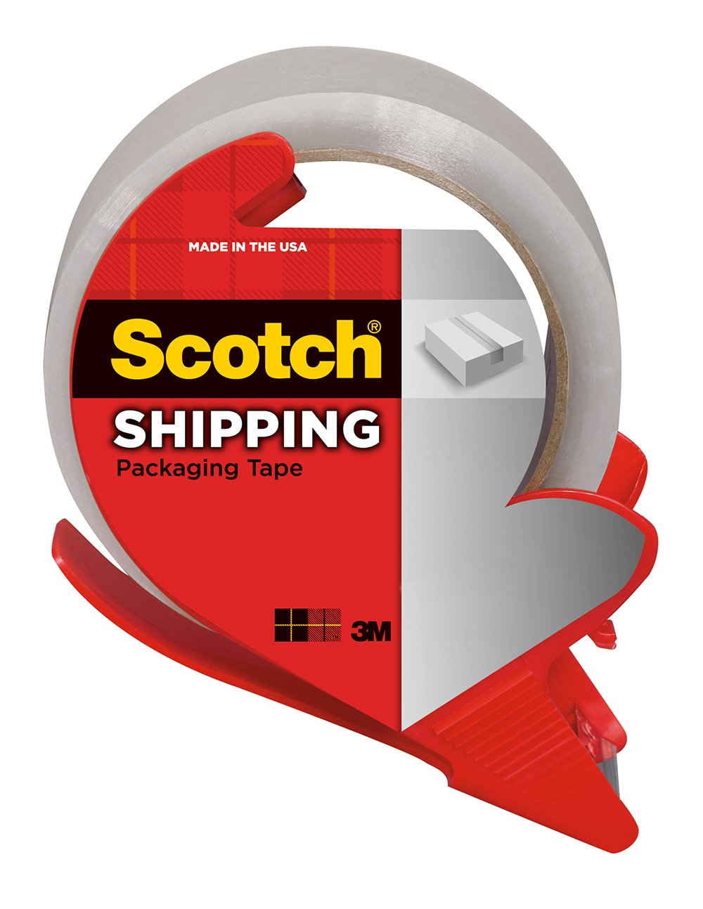 Scotch Shipping Packaging Tape with Dispenser, 1.88 in. x 84.2 yd., Clear, 1 Dispenser/Pack