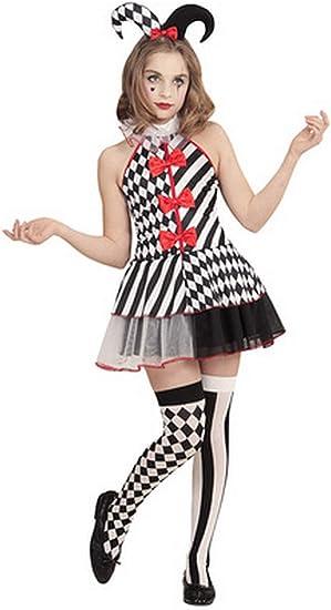 Forever Young Disfraz de bufón arlequín para niñas: Amazon.es ...