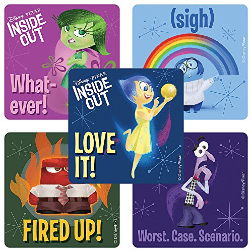 Disney Pixar Inside Out Movie stickers - Birthday Party Supplies & Favors - 100 Per Pack by SmileMakers