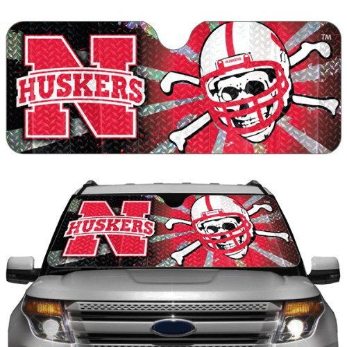 NCAA Nebraska Cornhuskers Auto Sun Shade Color: Nebraska Cornhuskers, Model: ASU042, Car & Vehicle Accessories / - Outlet Nebraska Mall