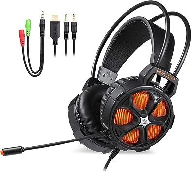 QKa Auriculares para Juegos con micrófono para Nintendo Switch ...