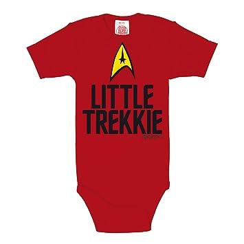 d88bb47103d10 Body bébé Star Trek Little Trekki qualité de marque coton rouge - 50 56