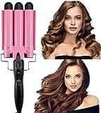 Curling Iron 3 Barrel Hair Waver Stylish Fast Heating Hair Curlers Temperature Adjustable Ceramic Beach Waver Hair…