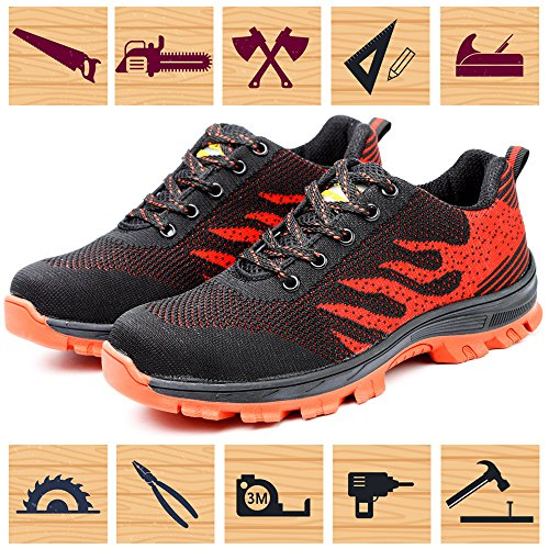 Lightweight Men Shoes Unisex Red Security Shoes Construction Resistant Women Composite for Shoe Toe Steel amp; Work Safety Industrial Slip xwHSU0q6W