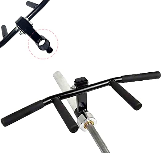 Jaimenalin Tricep Bar Double D Row Handle Cable Landmine Attachment for Barbell Exercise Equipment