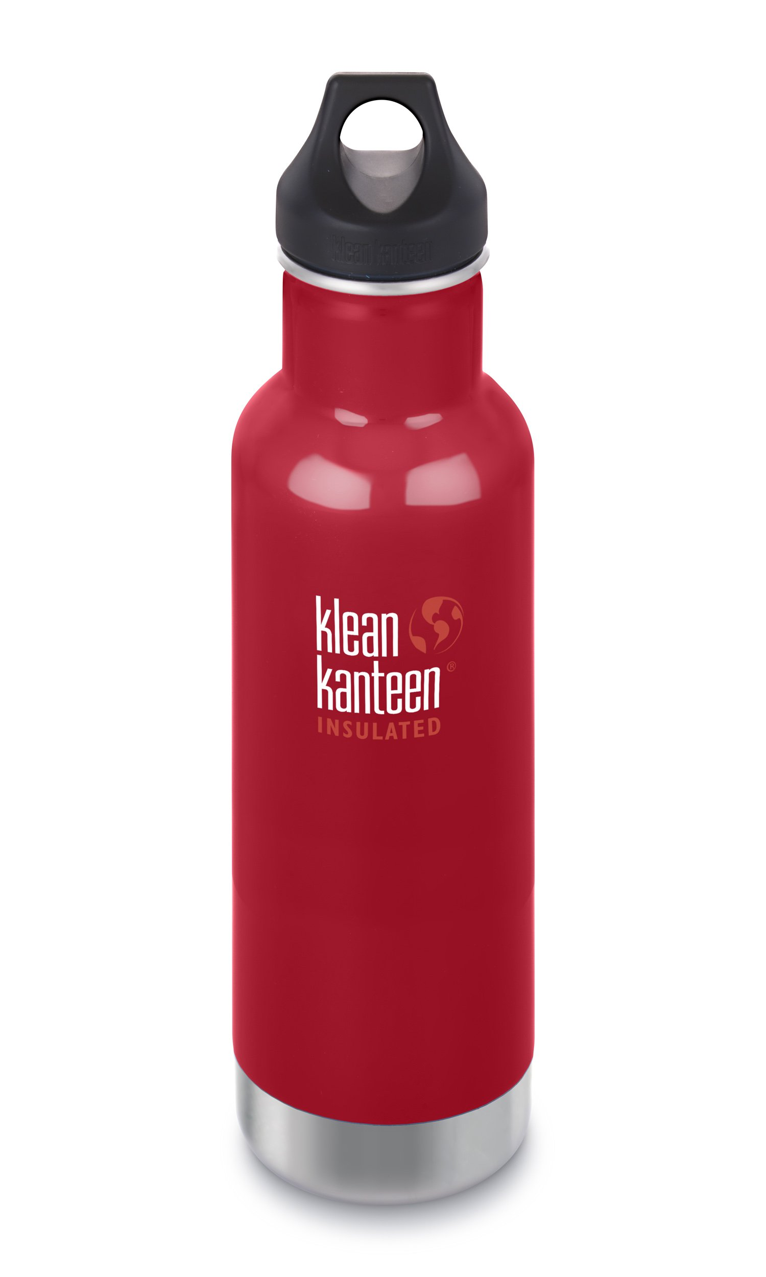 a5991d9c52 Klean Kanteen 20oz Classic Stainless Steel Water Bottle with Klean Coat,  Double Wall Vacuum Insulated