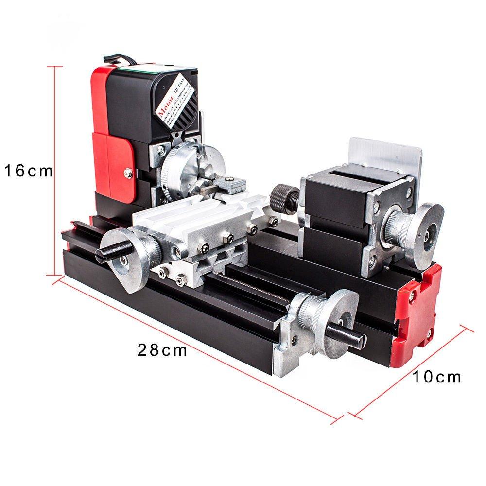 DC 12V 24W DIY Tool CNC Metal Motorized Mini Lathe Machine 20000rev/min