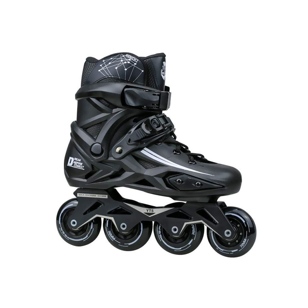 XDSAインラインスケート インラインスケート、大人用の1列スケート、プロの男性と女性、子供初心者のためのフルセットブラック(カラー:B、サイズ):( 42 EU / 9 US / 8 UK / 26 Cm JP) (Color : B, Size : 36 EU/4.5 US/3.5 UK/23cm JP)