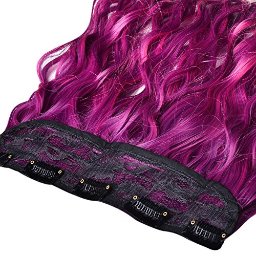 Juju 174 Ombre Dip Dye Color Clip In Straight Synthetic Thick