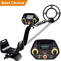 """RM RICOMAX Metal Detector - High-Accuracy Metal Finder with Discrimination Mode, Tone Mode, View Meter, 8"""" Waterproof Search Coil for Underwater Metal Detecting, Metal Detector with P/P Function"""