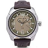 [ポリス]POLICE メンズ テキサス シャンパンゴールド文字盤 ブラウン レザー PL13836JS-61A 腕時計 [並行輸入品]