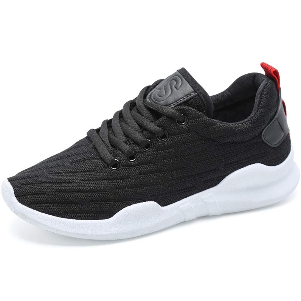 YAN Frauen Turnschuhe Mesh Sportschuhe atemberaubende Spitze bis laufende Schuhe Athletic Schuhe Training Schuhe Weiß schwarz Rosa schwarz 37