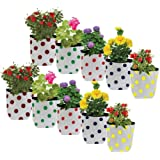 Trust basket colourfull Dotted Grow Bags (20 * 20 * 35 cms), Set of 10