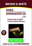 Brown & White Edible Sandalwood Oil with Olea Europaea Extracts (Lite), Vegetarian - 15 ml