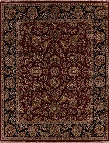 - Agra Oriental Area Rug Handmade Wool All Over Floral New Carpet 8 X 10 Burgundy