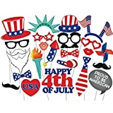 Rainlemon(TM) Happy 4th of July Photo Booth Props Kit Proud To Be American