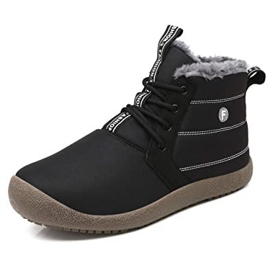 GOMNEAR Frauen Männer Schneeschuhe Leichte Winter Warme Wanderschuhe  Rutschfester Sneaker mit Vollfutter Black36 125f8b897c