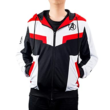 Amazon.com: Avengers Endgame Hoodie Costume Quantum Suit Advanced Tech Jacket Cosplay Costumes: Clothing