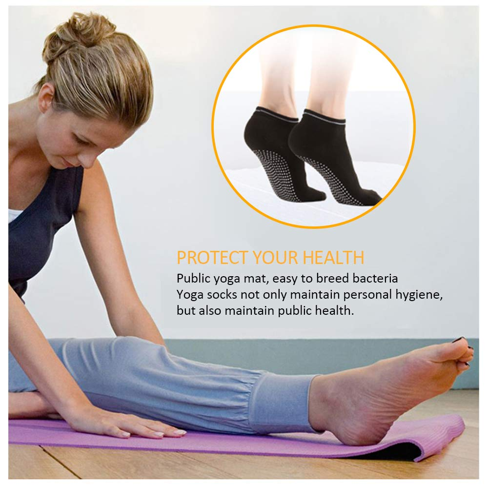 Yoga Calze Fitness Pilates Ballet Danza Calzini Cotone Sport Socks DAZISEN Calzini Antiscivolo Donna