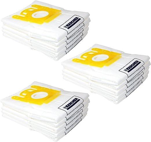 Bolsas de filtro de vellón SPARES2GO para aspiradora Karcher (Pack ...