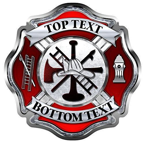 Firefighter Maltese Cross - AZ House of Graphics CUSTOM Firefighter Maltese Cross Sticker