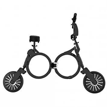 Coche Plegable Ultraligero Mini-Portátil Dos Rondas de Scooter Eléctrico para Adultos Scooter Bici de